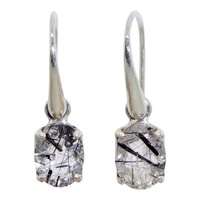 Combination Tourmilated Quartz, Black Quartz Geode, Meteoric Tektite, Star Diopside & Sterling Silver Pendant