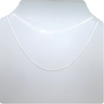 Sterling Silver Round Snake Chain 1mm